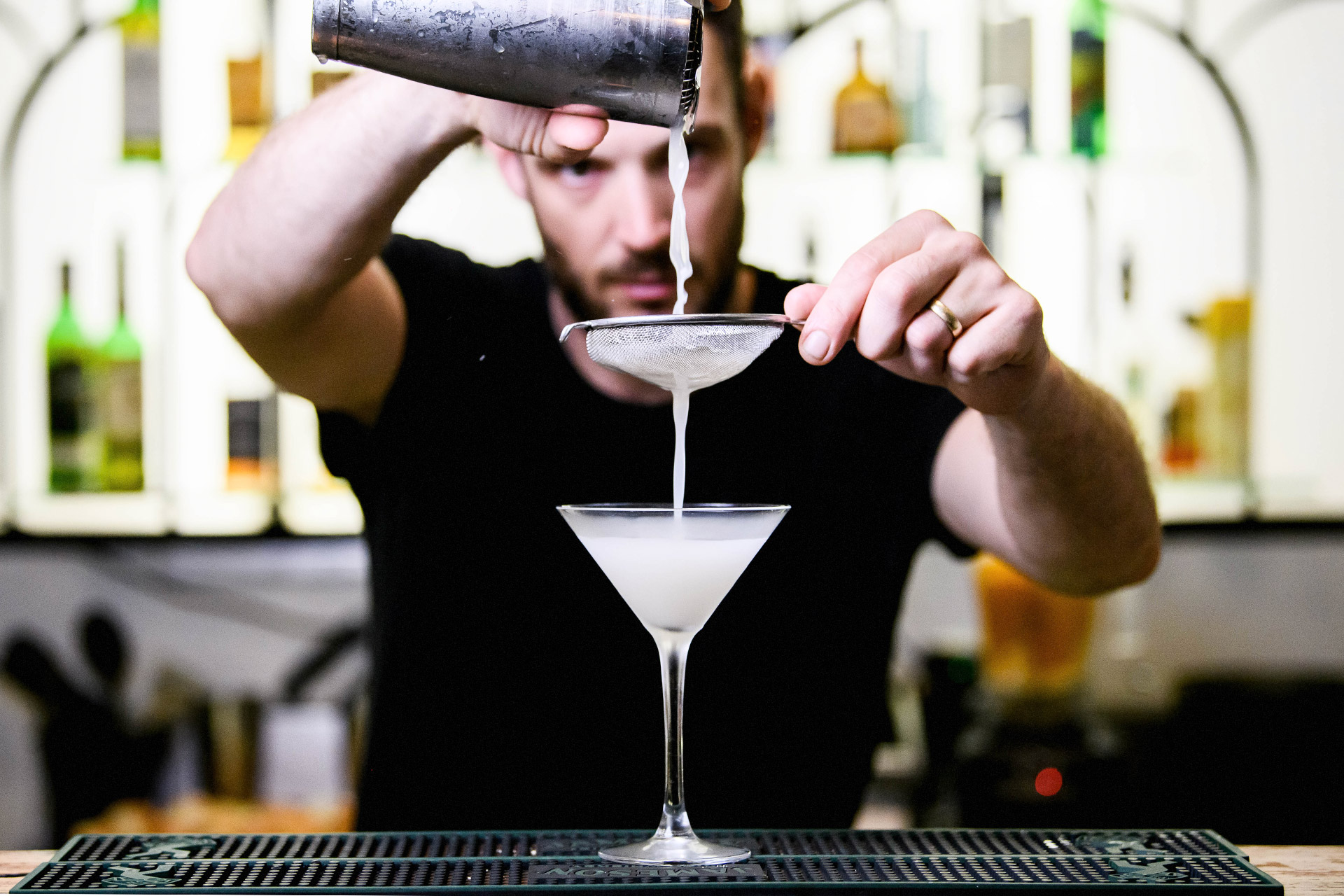 Nick from SILY making a cocktail