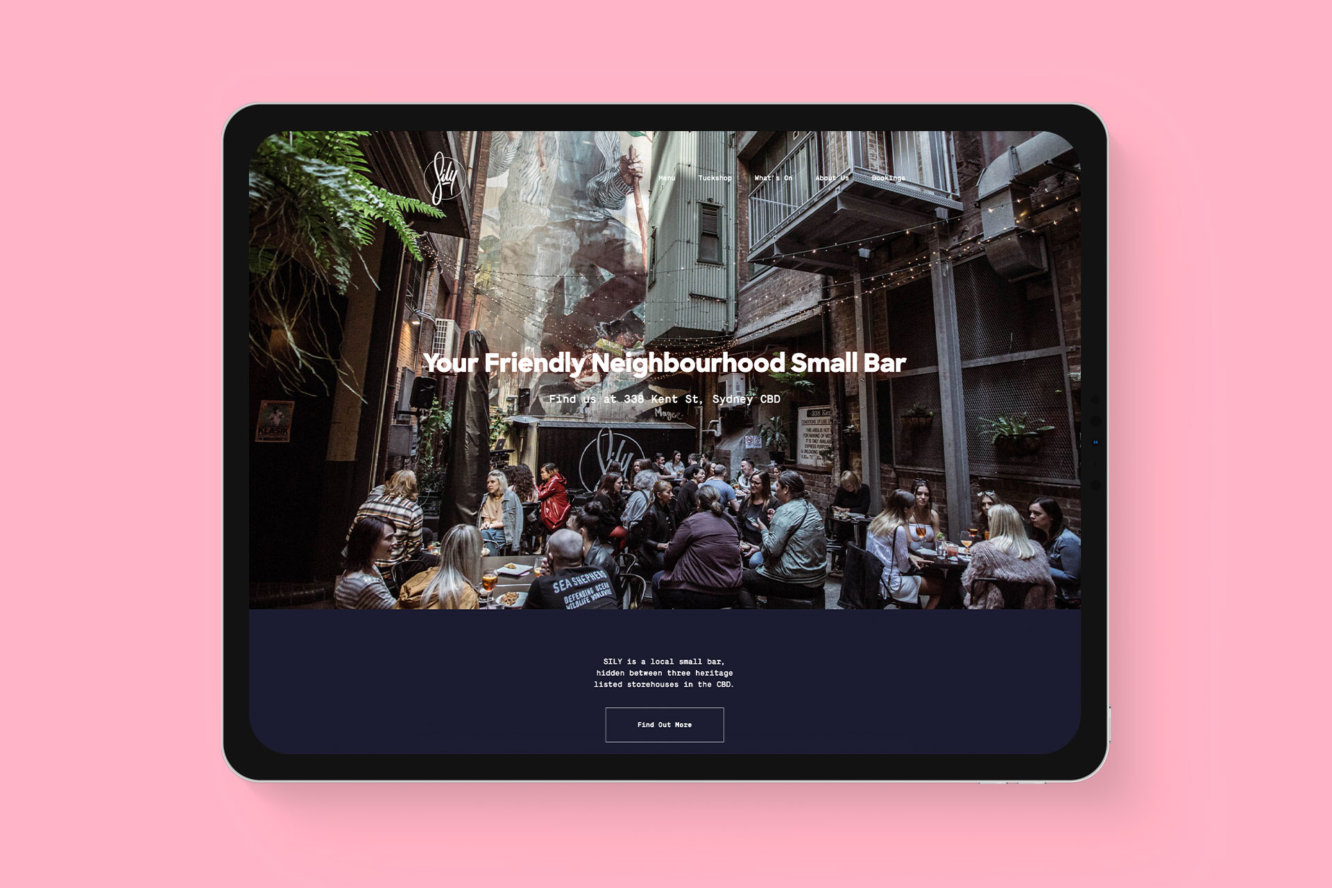 SILY Website on iPad