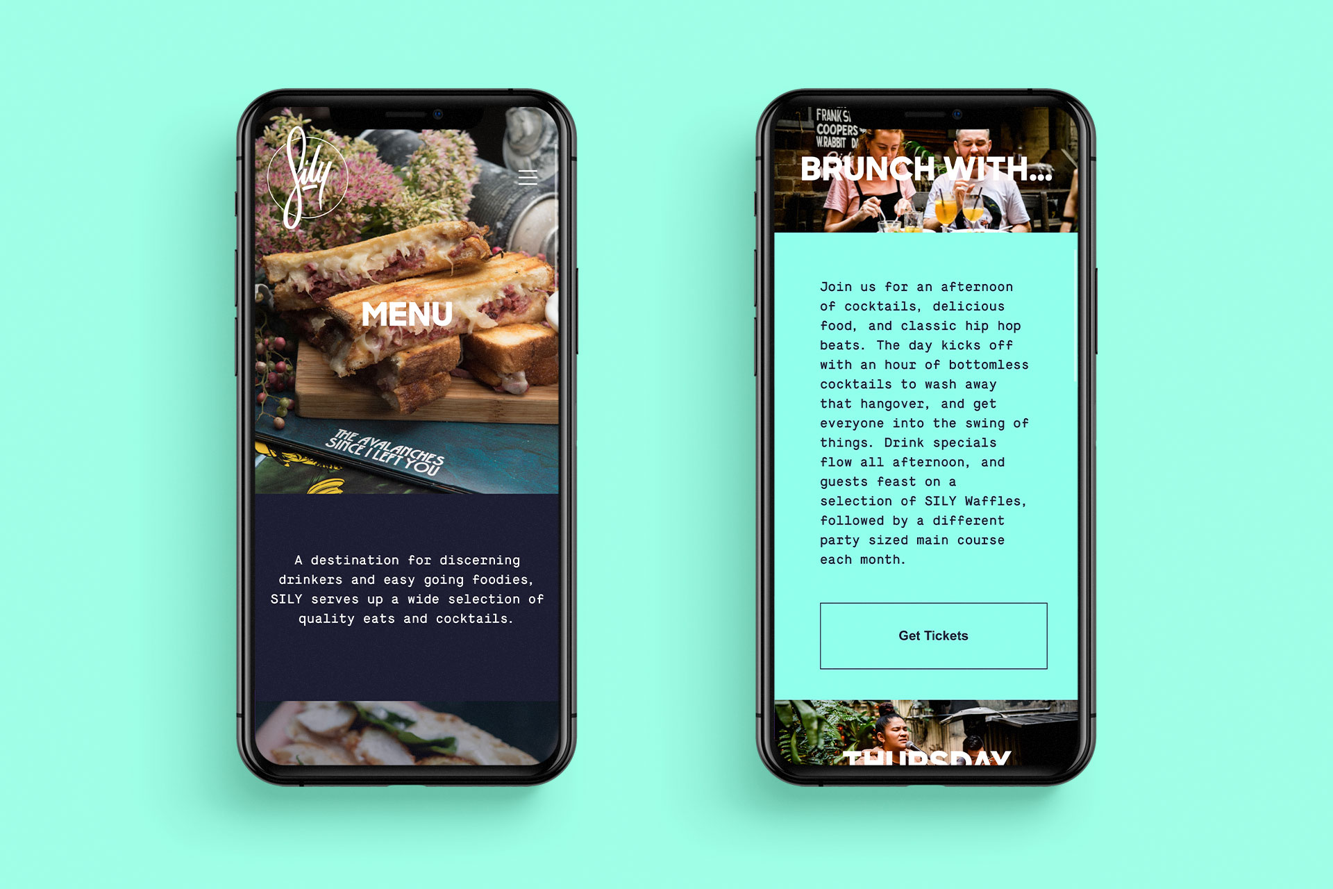 SILY Website on iPhone
